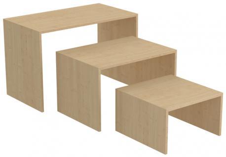 Ladeneinrichtung Präsenter Tisch Ahorn Ladenausstattung Ladenmobiliar Ladentisch