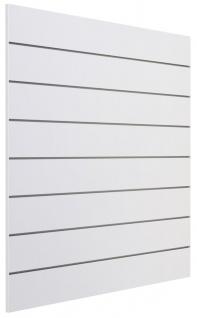 Ladeneinrichtung Lamellenwand Deko Wand Accessoire Aufhänger 1200 x 1200 mm - Weiß