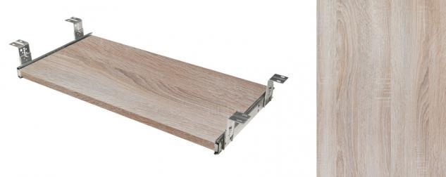 Tastaturauszug Schreibtischauszug Dekor Eiche sägerau Tablar mit Teleskopauszug 40 x 60 cm