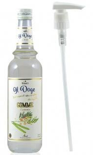 21, 41€/ Il Doge Sirup Gomme 0, 7 Liter Cocktailsirup Barsirup incl. Dosierpumpe