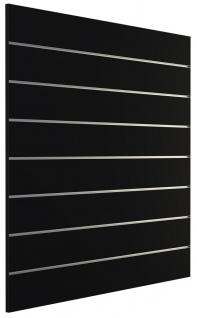 Ladeneinrichtung Lamellenwand Deko Wand Accessoire Aufhänger 1200 x 1200 mm - Schwarz