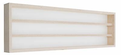 Pihami Sammler - Vitrine 3HE Spur H0 & N Märklin Regal 125 cm Birke natur
