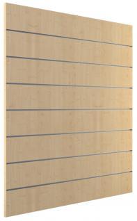 Ladeneinrichtung Lamellenwand Deko Wand Accessoire Aufhänger 1200 x 1200 mm Dekor Ahorn