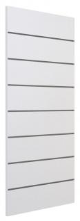 Ladeneinrichtung Lamellenwand Deko Wand Accessoire Aufhänger 600 x 1200 mm - Weiß