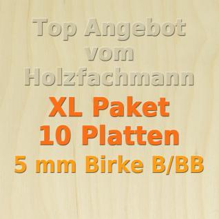 XL Paket Sperrholz 5mm Birke Modellbau Holzplatte Bastelholz 10 Stück 76 x 50 cm