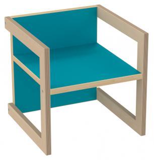 PiHaMi Kinderstuhl Kindermöbel Stuhl Tisch Michel Birke/Blau in 3 Sitzhöhen