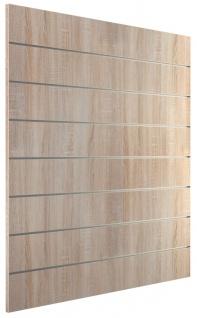 Ladeneinrichtung Lamellenwand Deko Wand Accessoire Aufhänger 1200 x 1200 mm - Eiche sägerau