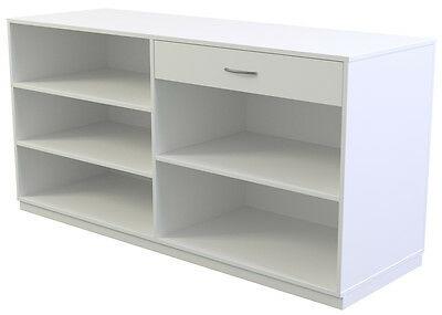 Ladeneinrichtung Verkaufstheke Kassentresen 1800 x 600 x 900 mm Platin- / Grau