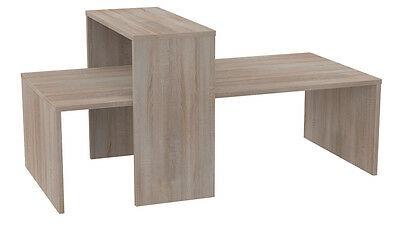 Ladeneinrichtung Präsenter Tisch Ladentisch Mittelraumpräsenter 2-teilig - Eiche sägerau
