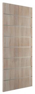 Ladeneinrichtung Lamellenwand Deko Wand Accessoire Aufhänger 500 x 1200 mm - Eiche sägerau