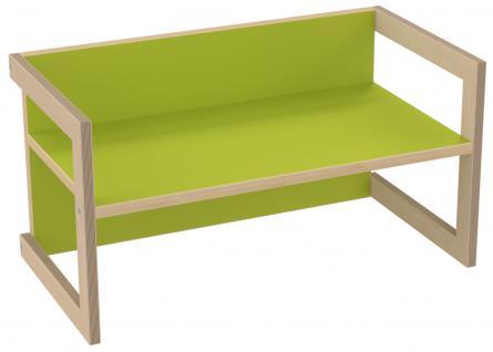 PiHaMi Kindersitzbank Kindermöbel Stuhl Tisch Hannes Birke/Grün in 3 Sitzhöhen