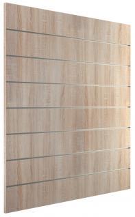 Ladeneinrichtung Lamellenwand Deko Wand Accessoire Aufhänger 1200 x 1200 mm Dekor Eiche sägerau