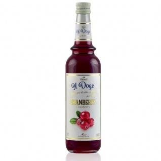 17, 13€/ Il Doge Sirup Cranberry 0, 7 Liter für Cocktail oder Kaffee