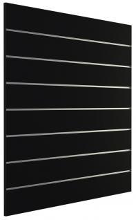 Ladeneinrichtung Lamellenwand Deko Wand Accessoire Aufhänger 1200 x 1200 mm Dekor Schwarz