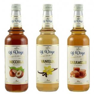 13, 33€/l Il Doge Sirup Caramel, Haselnuss und Vanille Kaffeesirup Cocktailsirup
