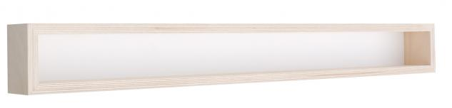 Pihami Sammler - Vitrine 1HE Spur H0 & N Märklin Regal 130 cm Birke natur
