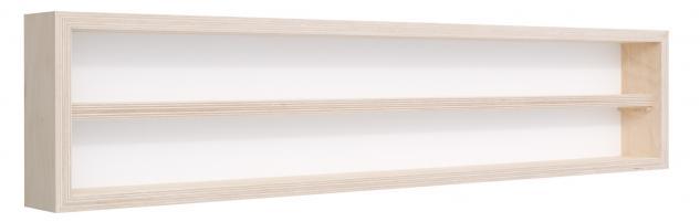 Pihami Sammler - Vitrine 2HE Spur H0 & N Märklin Regal 130 cm Birke natur