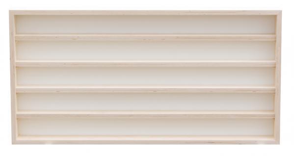 Pihami Sammler - Vitrine 5HE Spur H0 & N Märklin Regal 110 cm Birke natur - Vorschau 2