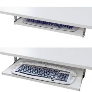 Tastaturauszug Schreibtischauszug Dekor Weiß Perl Tablar mit Teleskopauszug 30x 80 cm - Vorschau 2