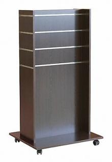 Mittelraumpräsenter Accessoires Ständer Ladeneinrichtung Gondel Farbe Wenge