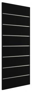 Ladeneinrichtung Lamellenwand Deko Wand Accessoire Aufhänger 600 x 1200 mm - Schwarz