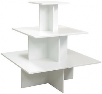 Regalpyramide 110cm Grau Mittelraumpräsenter Warenträger Ladeneinrichtung Laden