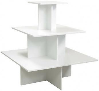 Regalpyramide 110cm Weiß Mittelraumpräsenter Warenträger Ladeneinrichtung Laden