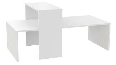 Ladeneinrichtung Präsenter Tisch Ladentisch Mittelraumpräsenter 2-teilig - Weiß Perl
