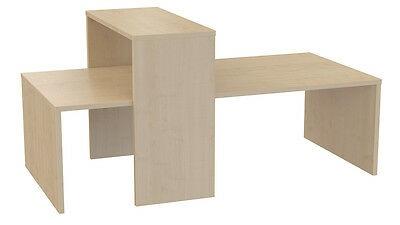 Ladeneinrichtung Präsenter Tisch Ladentisch Mittelraumpräsenter 2-teilig - Ahorn
