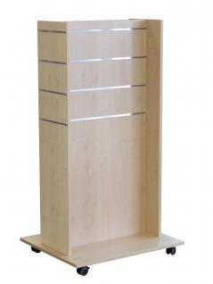 Mittelraumpräsenter Ahorn Accessoires Ständer Ladeneinrichtung Lamellenwand H Gondel