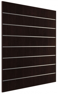 Ladeneinrichtung Lamellenwand Deko Wand Accessoire Aufhänger 1200 x 1200 mm - Wenge