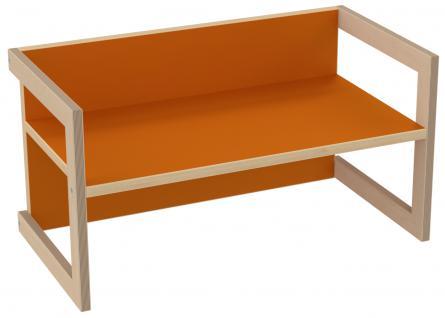 PiHaMi Kindersitzbank Kindermöbel Stuhl Tisch Hannes Birke/Orange in 3 Sitzhöhen