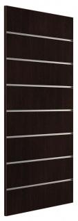 Ladeneinrichtung Lamellenwand Deko Wand Accessoire Aufhänger 500 x 1200 mm - Wenge