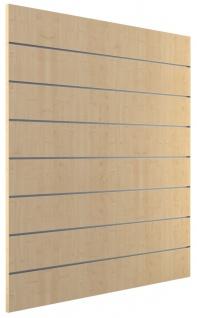 Ladeneinrichtung Lamellenwand Deko Wand Accessoire Aufhänger 1200 x 1200 mm - Ahorn