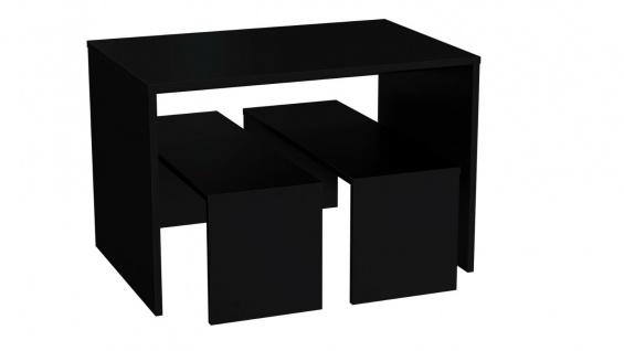Ladeneinrichtung Ladenausstattung Vorlagetisch Mittelraumpräsenter Set 3-teilig - Schwarz