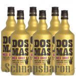 DOS MAS Tequila verfeinert mit Zimtlikör 6 x 0, 7 Liter
