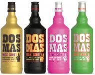 Dos Mas Mischpaket Mix 4 x 0, 7 Liter Mex Kiss Fire und Pink Shot