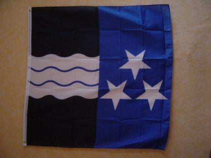 Fahne Flagge AARGAU 120 x 120 cm