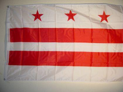Fahne Flagge D. C. USA 150 x 90 cm - Vorschau