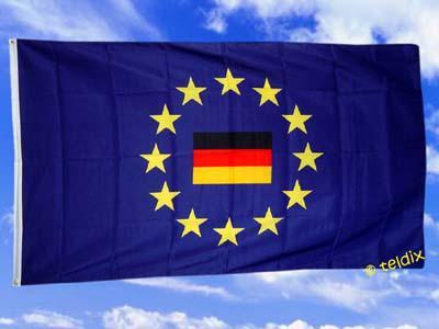 Fahne Flagge DEUTSCHLAND IM EUROPAKREIS 150x90cm