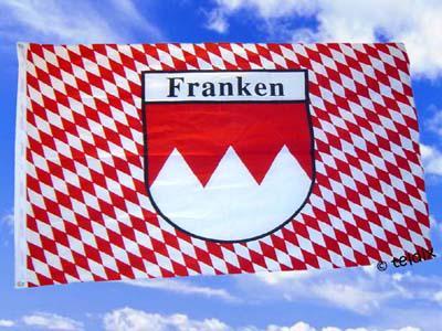 Fahne Flagge FRANKEN MIT RAUTEN 150x90 cm