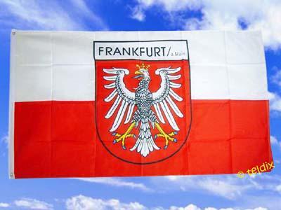 Fahne Flagge FRANKFURT AM MAIN 150 x 90 cm