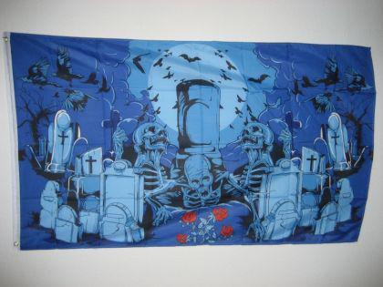Fahne Flagge FRIEDHOF GEISTER 150x90cm