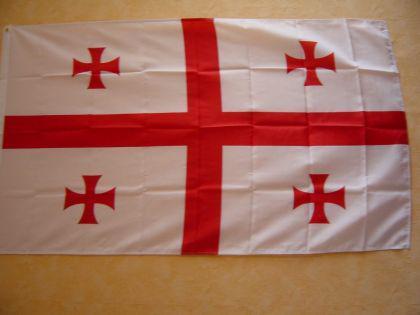 Fahne Flagge Georgien NEU 90 x 150 cm Flaggen Fahnen