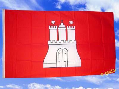 Fahne Flagge HAMBURG 150 x 90 cm