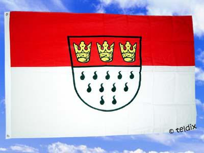 Fahne Flagge KÖLN OHNE SCHRIFTZUG 150 x 90 cm