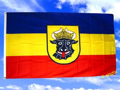 Fahne Flagge MECKLENBURG OCHSENKOPF 150x90cm
