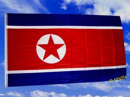 Fahne Flagge NORD KOREA 150 x 90 cm