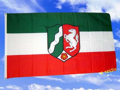 Fahne Flagge NORDRHEIN WESTFALEN 150 x 90 cm