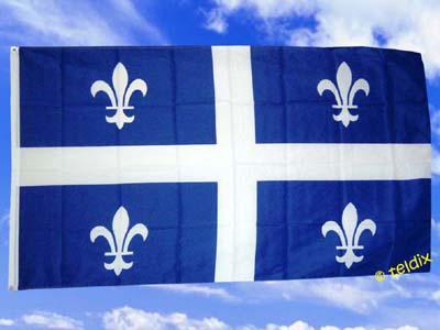 Fahne Flagge QUEBEC 150 x 90 cm - Vorschau